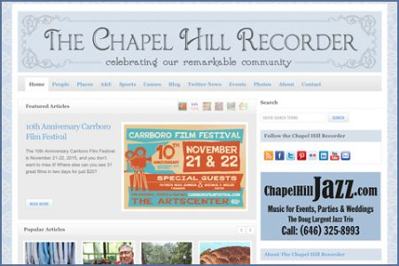 THE CHAPEL HILL RECORDER WEBSITE