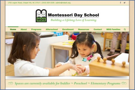 MONTESSORI DAY SCHOOL WEBSITE