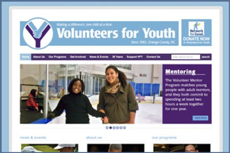 VOLUNTEERS FOR YOUTH WEBSITE
