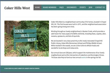 COKER HILLS WEST WEBSITE