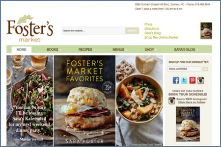 FOSTER'S MARKET WEBSITE
